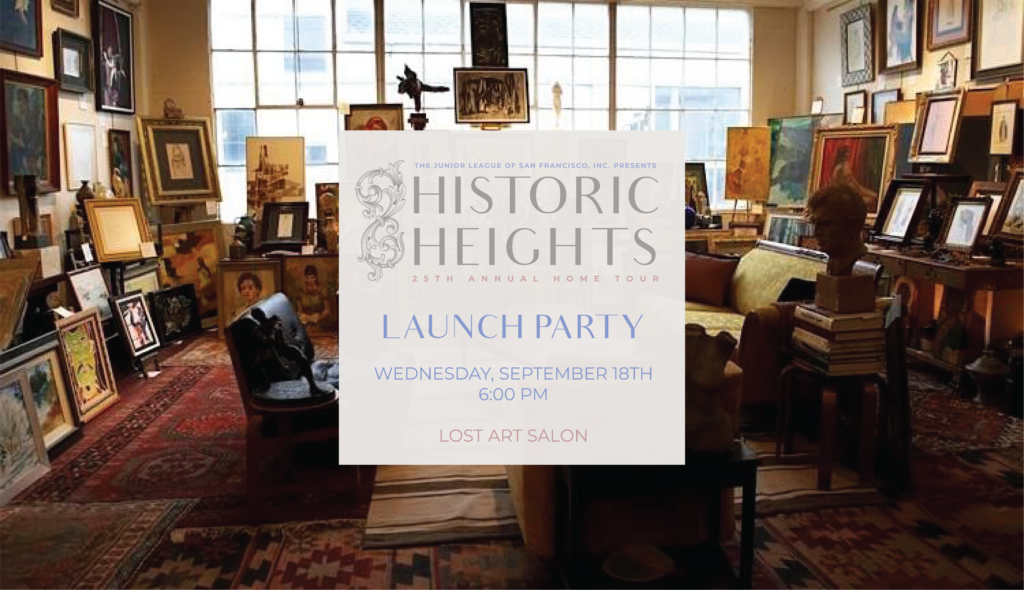 JLSF Historic Heights Launch Party September 18, 6-9pm, Lost Art Salon